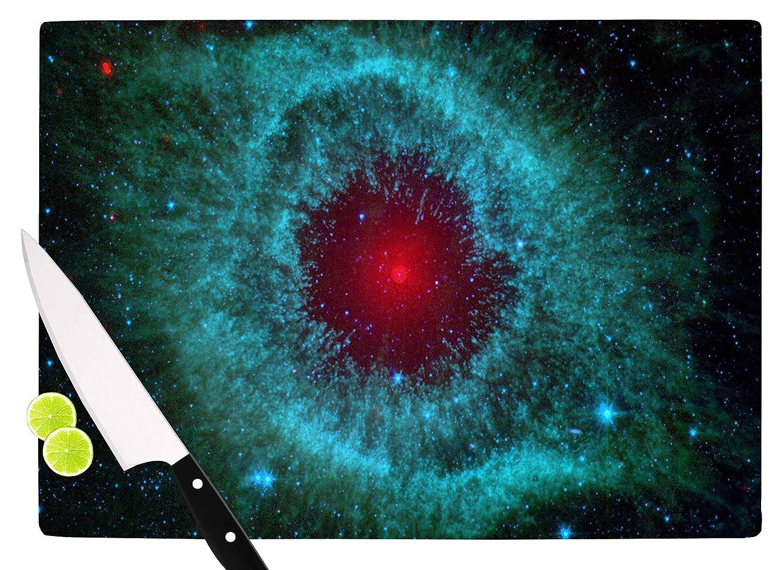 KESS InHouse SC2172ACB01 Suzanne CarterHelix Nebula Black Celestial Cutting Board 11.5 x 8.25 Multicolor