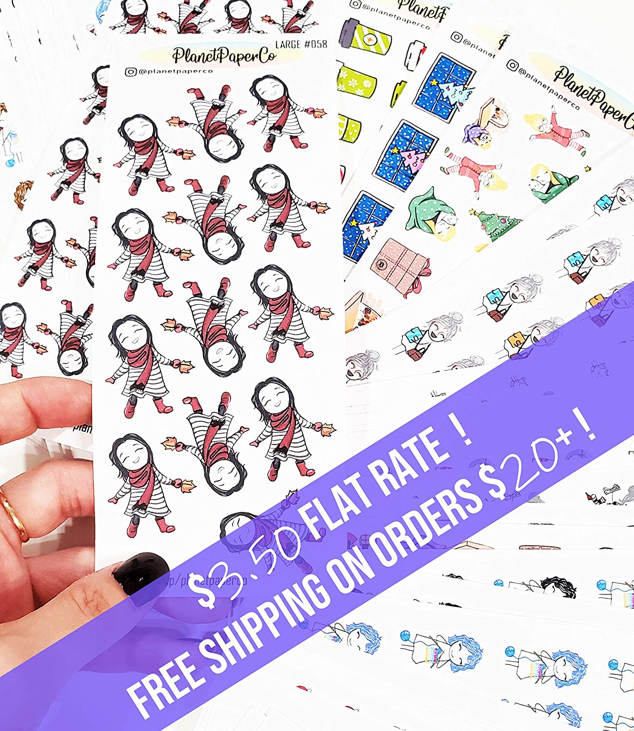 Burnt out Work hard Planner Girl Stickers 7 Different Hair Colors 14//20 Pcs Study hard Over worked Snooze