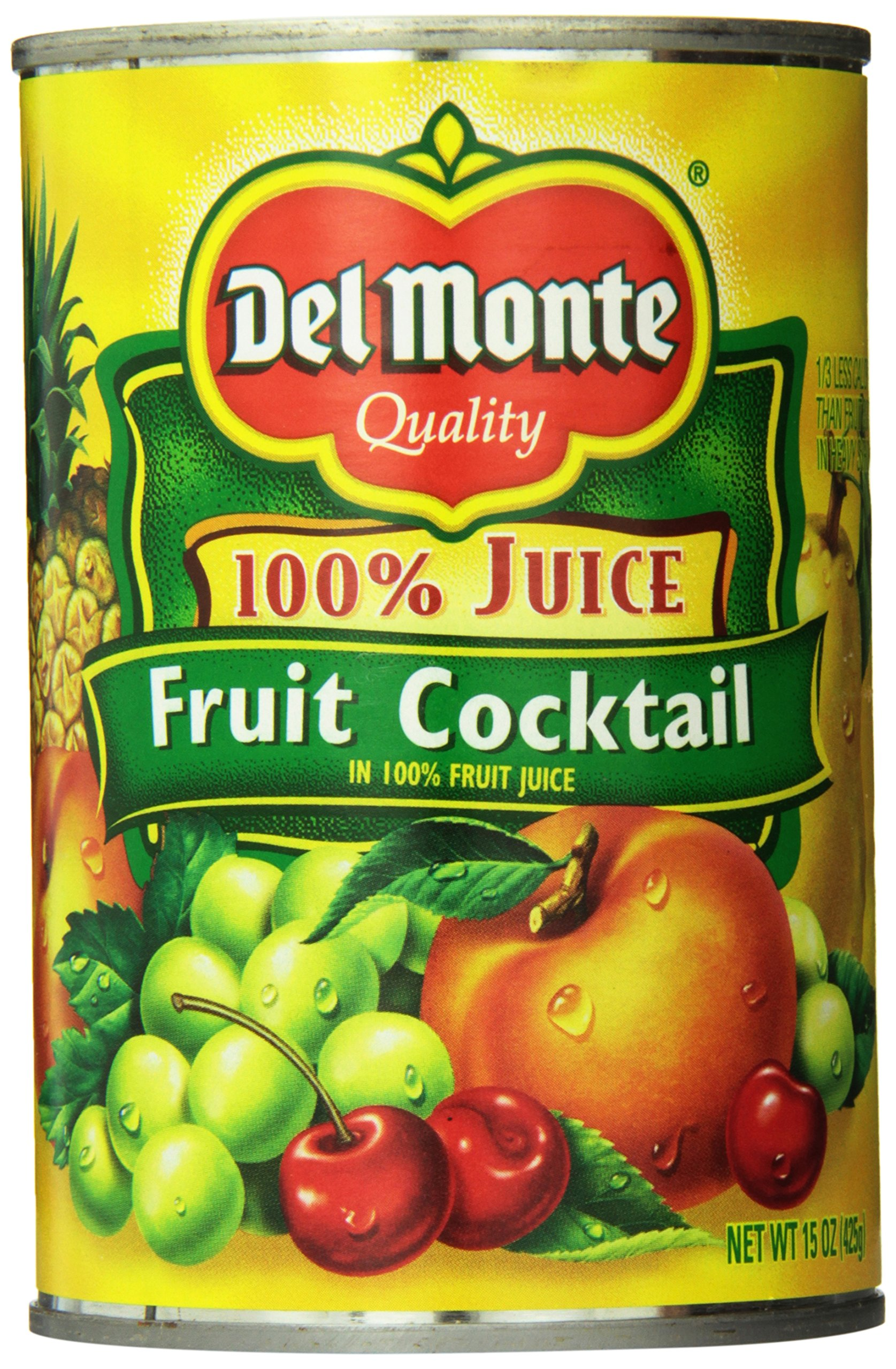 Del Monte Fruit Cocktail Cans, 15 oz, 6 Count