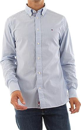 Tommy Hilfiger MW MW0MW12674 Camisa para hombre 0A6 Cop.Blue/White, S: Amazon.es: Ropa y accesorios