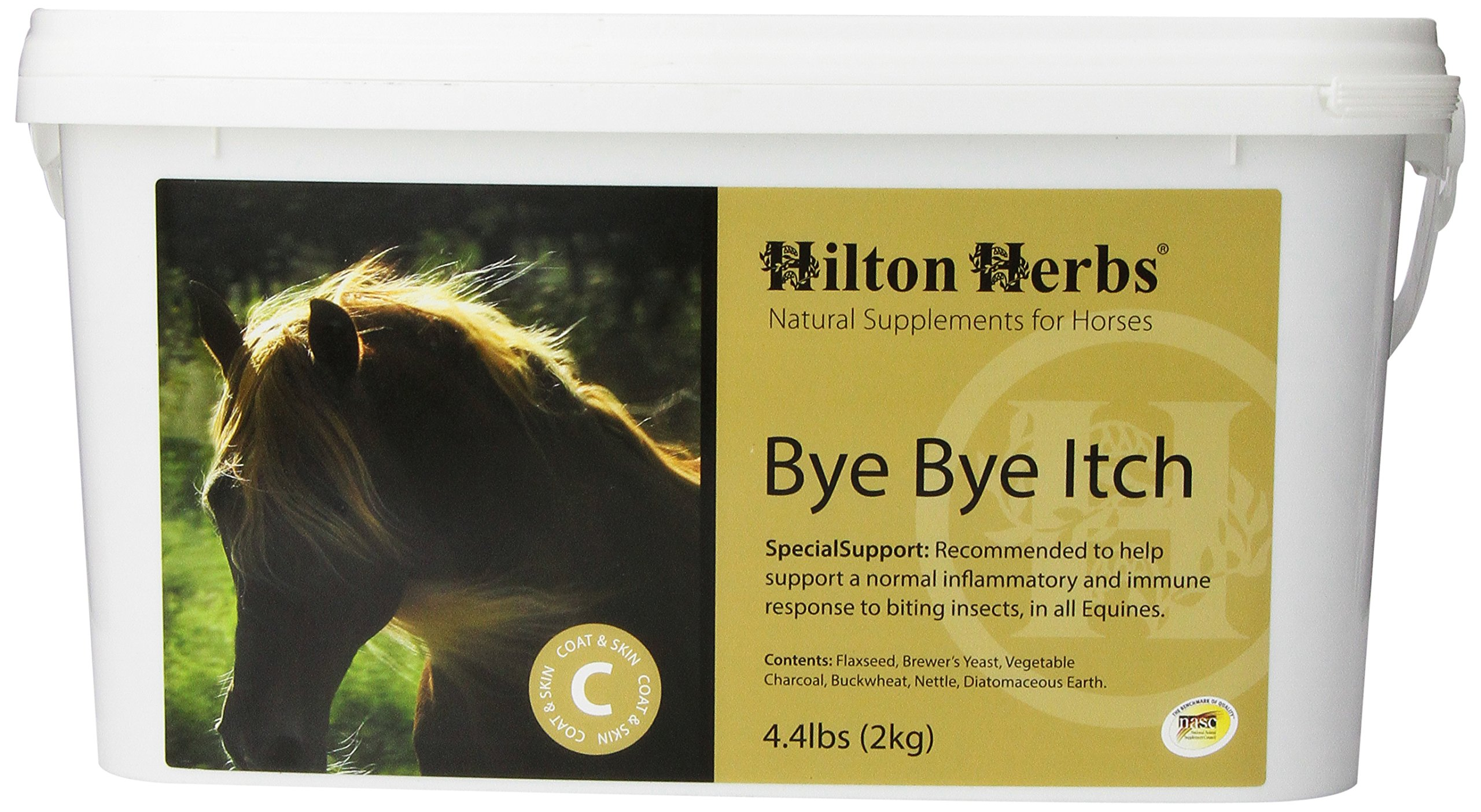 Hilton Herbs Bye Bye Itch Seasonal Skin Allergy Supplement for Horses, 2kg Tub by Hilton Herbs