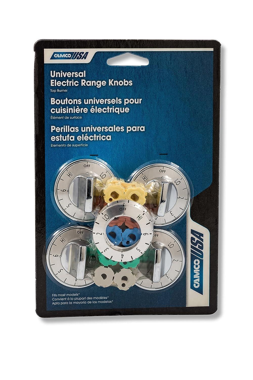 Amazon.com: Camco 00903 Electric Range Knobs Top Burner (Chrome): Automotive