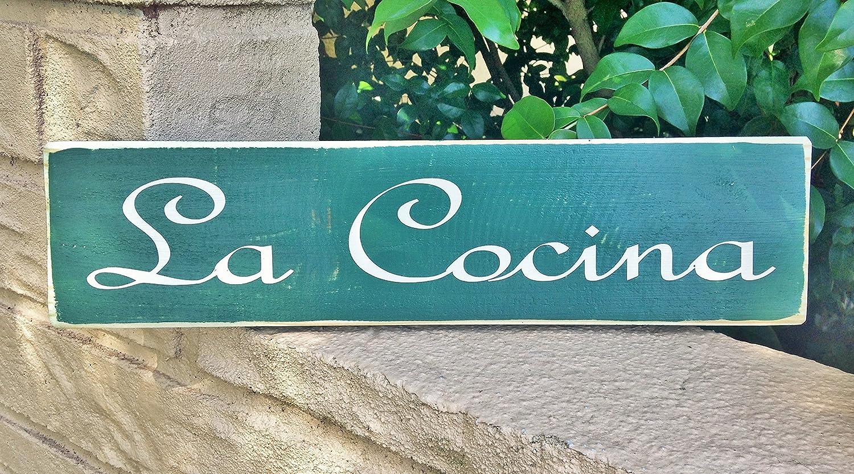 Designs by Prim LA COCINA Kitchen Spanish 12x4 (Choose Color) Custom Rustic Door Wall Welcome Home Decor Wood