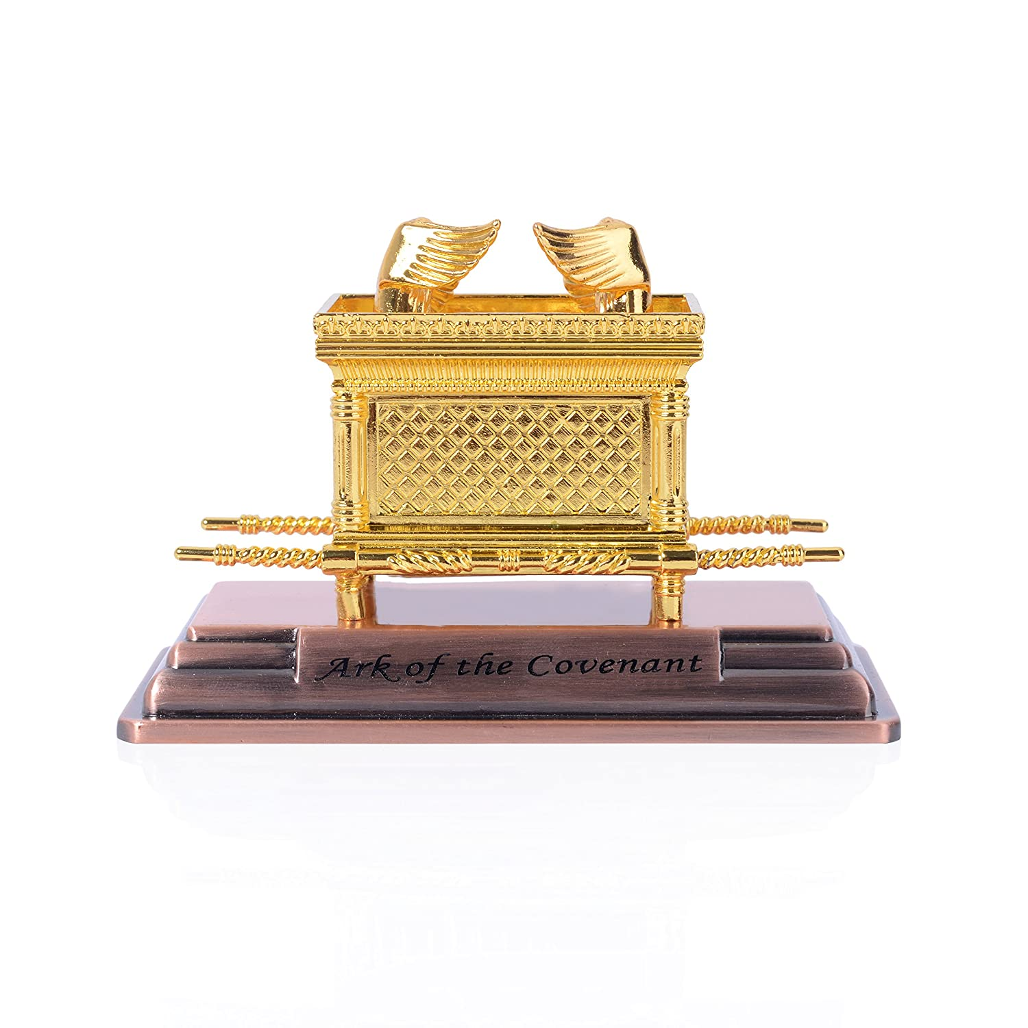 BRTAGG Ark of the Covenant - contents - Aaron Rod/Manna vessel & Tablets Gifts Jewish Necklace (0.8 inch)