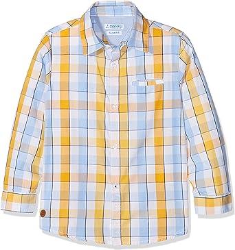 Mayoral 462680 Camisa, Naranja (Abeja 10), 9 años (Tamaño del Fabricante:9) para Niños