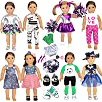 20 Pcs American Doll Clothes and Accessories fit American 18 inch Girl Dolls - Including 8 Complete Set Toys Doll…