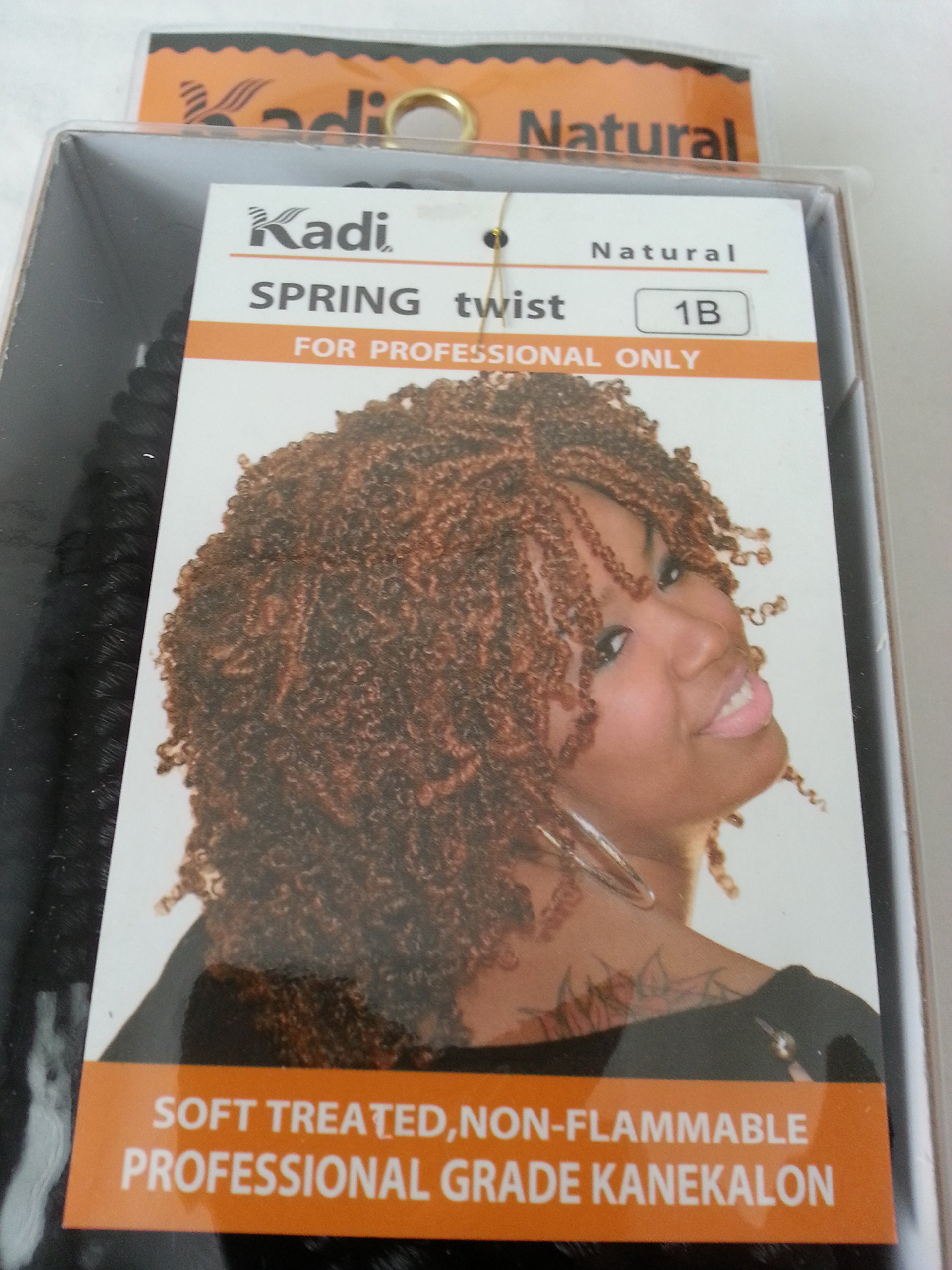 Kadi Natural Braiding Style, Hair Extension, Professional Grade Kanekalon (1B - Off Black, SPRING TWIST) by Kadi Natural (Image #2)