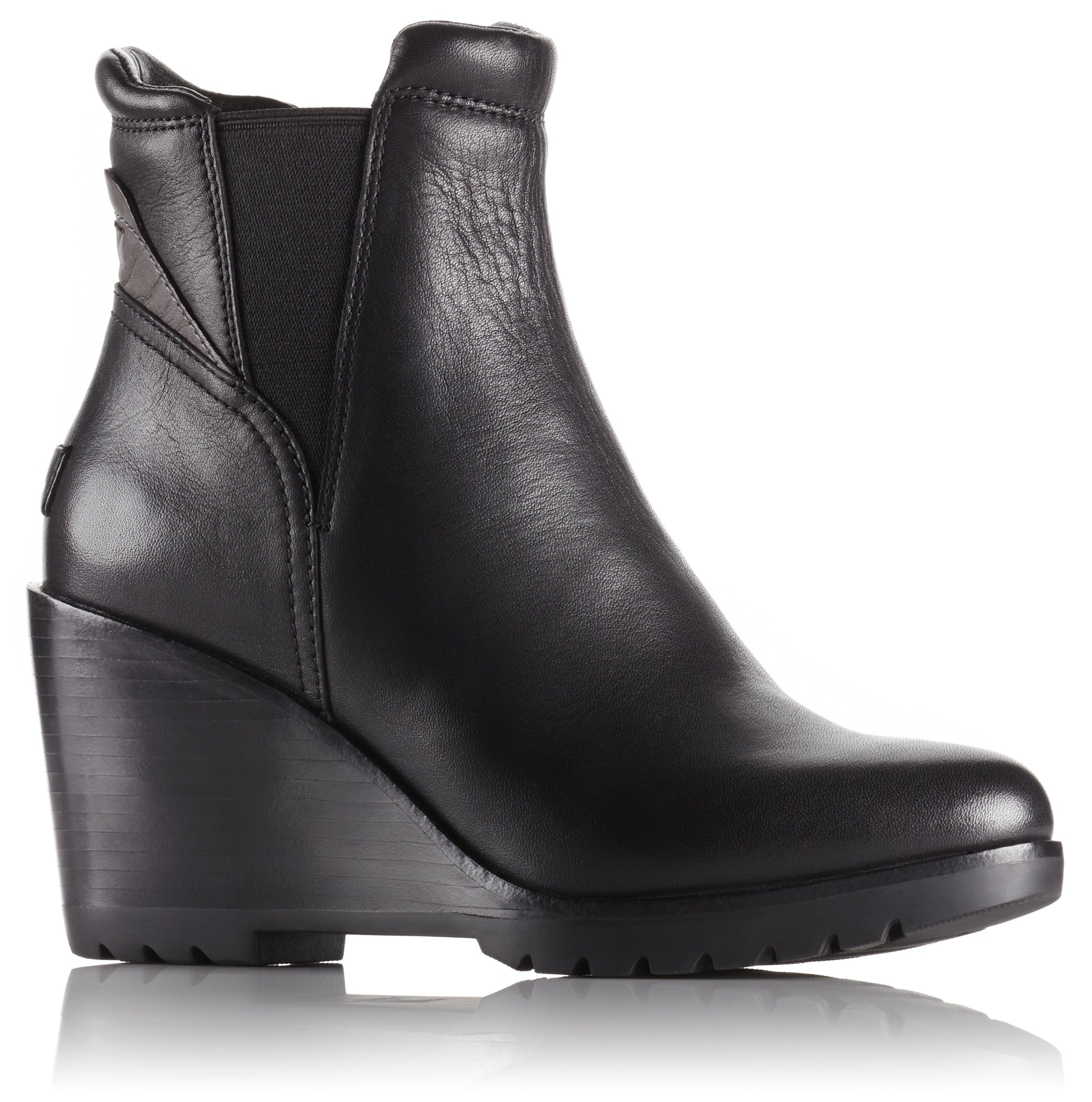 Sorel After Hours Chelsea Suede Boot - Black Leather - Womens - 8