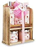 Spa Gift Basket With Lovely Pomegranate Fragrance - Bath set Includes Shower Gel, Bubble Bath, Bath Bombs and More! Great Birthday, Anniversary, Wedding or Baby Shower Spa Gift Set for Women and Girls