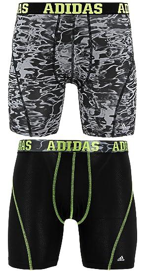 Adidas para Hombre Deporte Rendimiento Climacool 2 Pack Boxer Breve Ropa Interior - 975551, Black