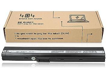 404Brand Batería del ordenador portátil para Asus K52J (10.8V, 4400 mAh, negro, 6 celdas): Amazon.es: Electrónica