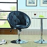 Coaster 102580 Round-Back Swivel Chair, Black