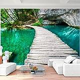 Fototapete Brücke 352 x 250 cm - Vliestapete - Wandtapete - Vlies Phototapete - Wand - Wandbilder XXL - !!! 100% MADE IN GERMANY !!! Runa Tapete 9009011a