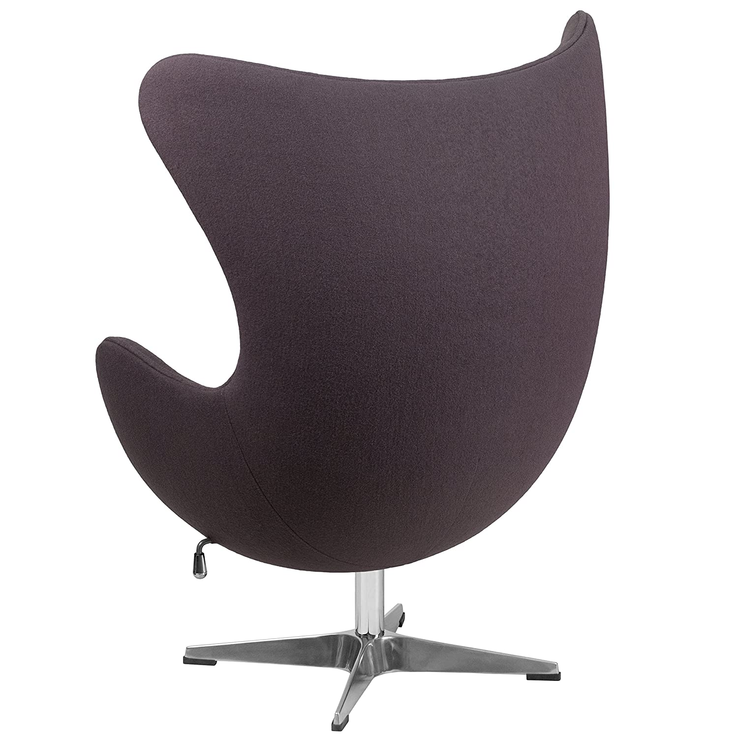 Design Egg Chair amazon com flash furniture gray wool fabric egg chair with tilt lock mechanism kitchen dining