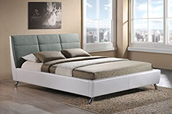 wholesale interiors baxton studio bruno modern and contemporary two tone platform base bed frame - Wholesale Bed Frames