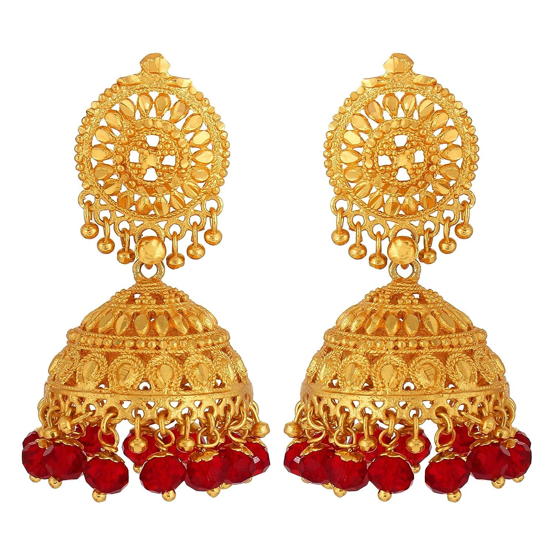 Buy Goldnera Gold-Plated Jhumki Earring For Women (Golden) Online ...