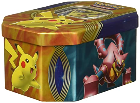 d2f7c67f41e153 Image Unavailable. Image not available for. Color: Pokemon TCG: Fall Battle  Heart Tin Pikachu EX