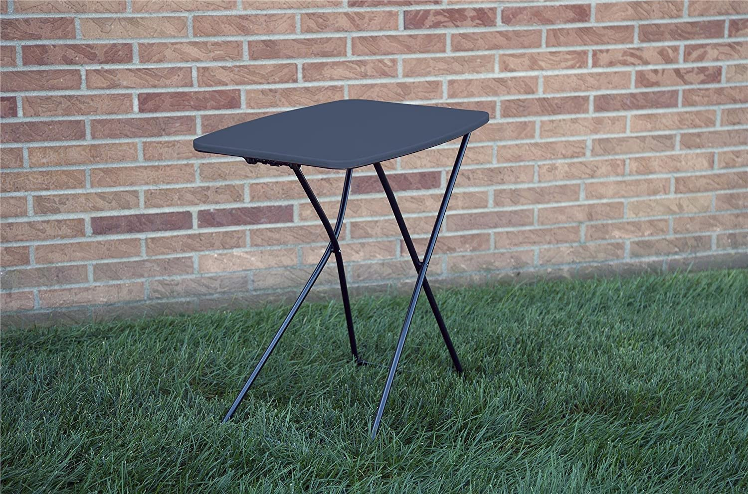 """2-Pack Dark Blue COSCO 18/"""" x 26/"""" Indoor Outdoor Adjustable Height Personal Folding Tailgate Table"""