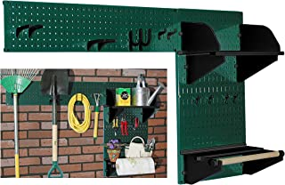 product image for Wall Control Pegboard Garden Supplies Storage and Organization Garden Tool Organizer Kit with Green Pegboard and Black Accessories
