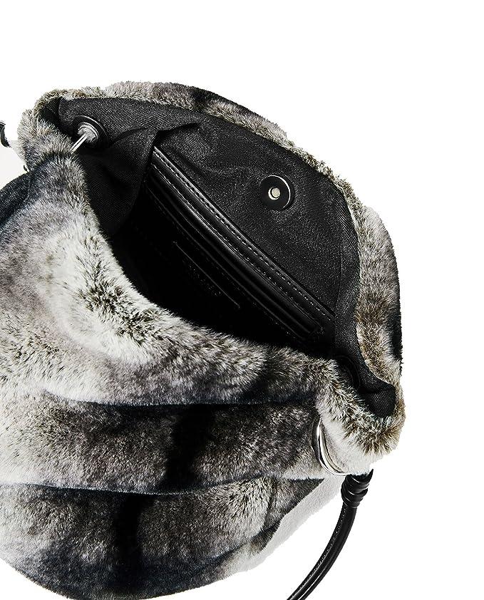 4972a2f2ca8 Zara Women s Faux fur crossbody bag 8633 104  Amazon.co.uk  Clothing