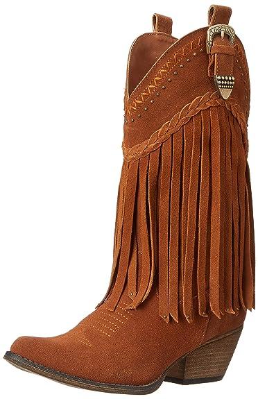 Volatile Womens Tan Suede Boots Pasa