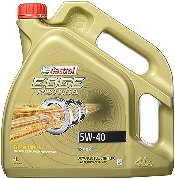 Castrol Edge Turbo Diesel 5 W-40 Aceite de Motor 4 de Titanio Fst L L: Amazon.es: Coche y moto