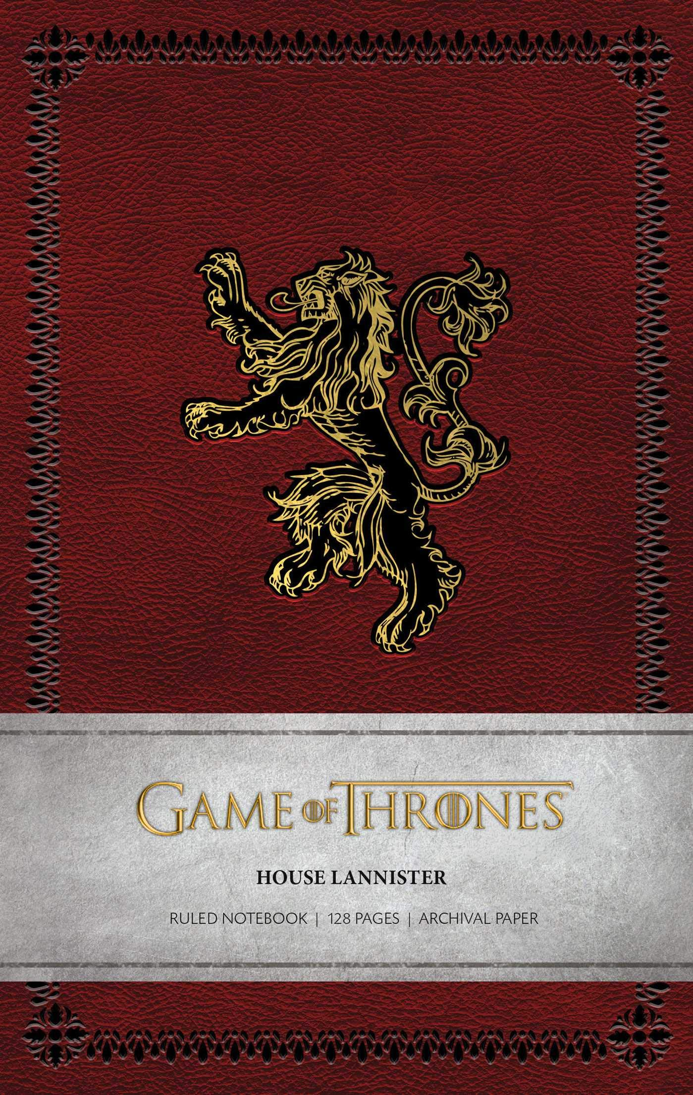 Game Of Thrones House Lannister Ruled Notebook Amazon Com Br