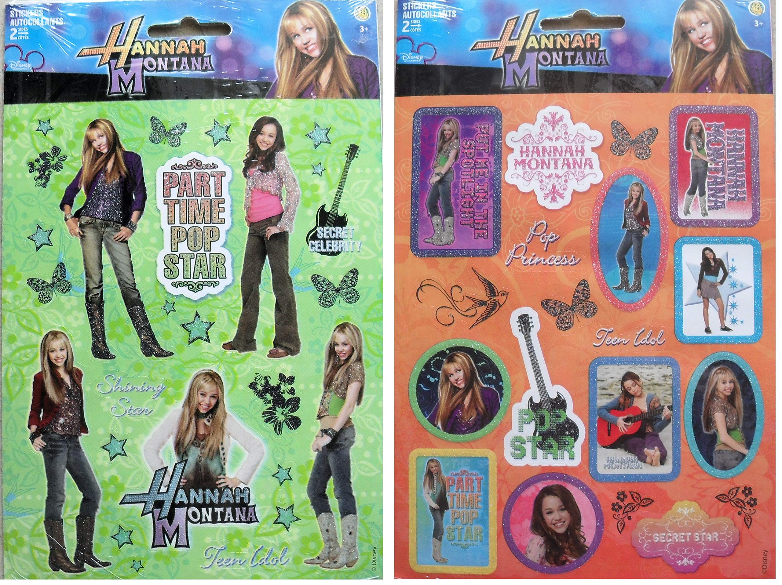 Hannah Montana Sticker -4 Sheets Stickers