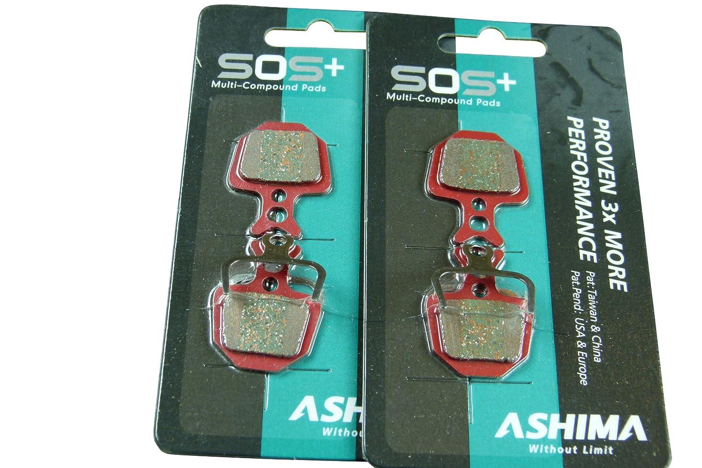 Ashima ASAD403S - Pastilla de freno para bicicletas, talla SOS ASAD403SOS