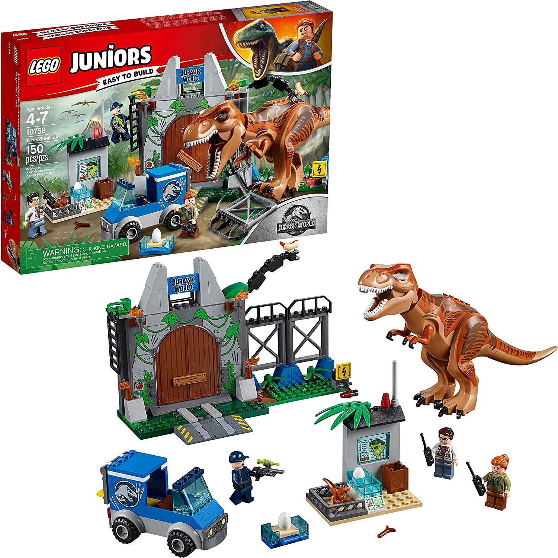 LEGO Juniors/4+ Jurassic World T. rex Breakout 10758 Building Kit (150 Pieces)