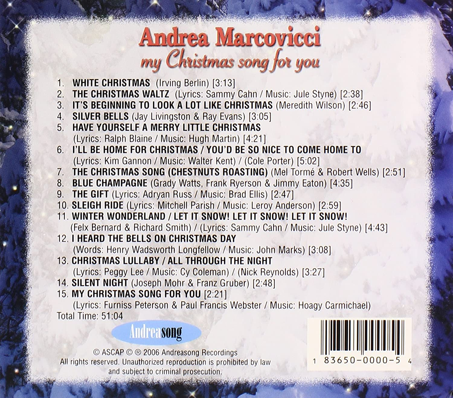 Andrea Marcovicci - My Christmas Song for You - Amazon.com Music