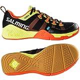 Salming Kobra Mens Court Shoes SS16, Color- Black/Orange, Shoe Size- 12 UK