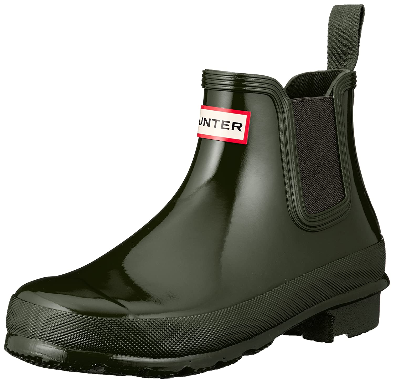 Hunter Women's Original Chelsea High-Top Rubber Rain Boot B079Y6ZWR2 5 B(M) US|Dark Olive