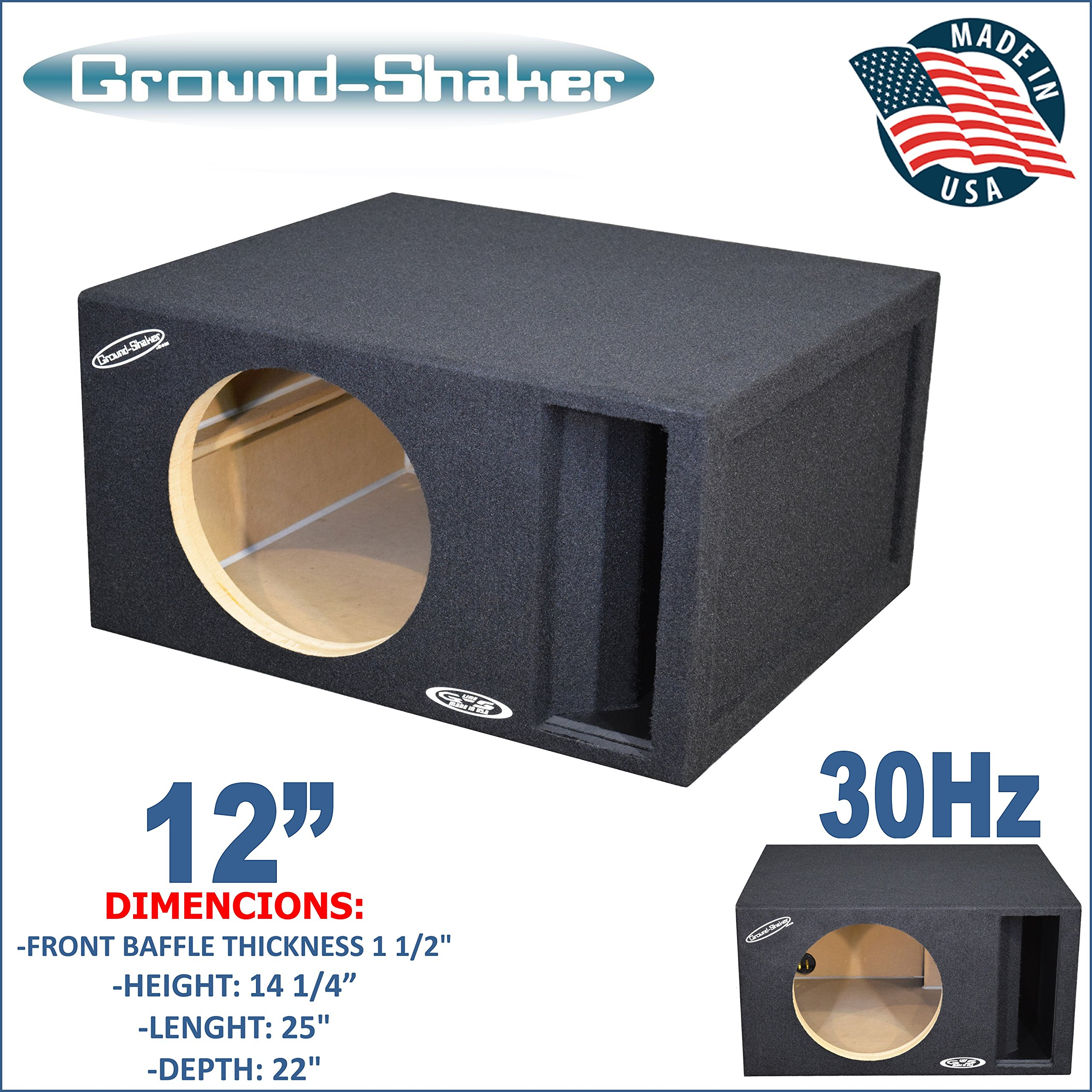 12'' Single Competition Ported Sub Box Ground-shaker