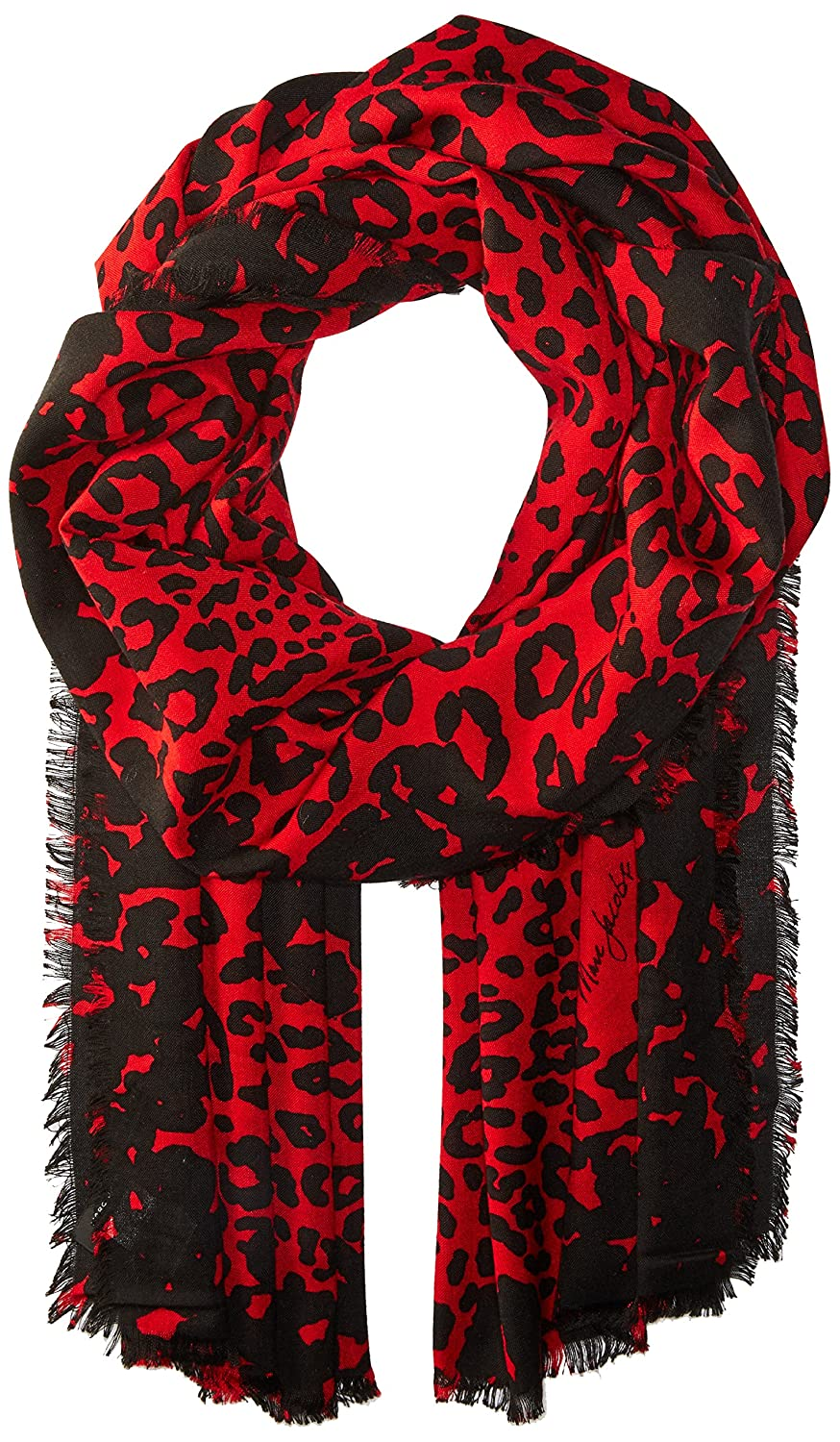 Marc Jacobs Women's Leopard Stole Scarf black/red One Size Marc by Marc Jacobs Women' s Accessories M0012353