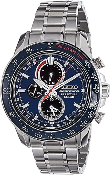 Seiko Mens SSC355P1 Sportura Blue Watch