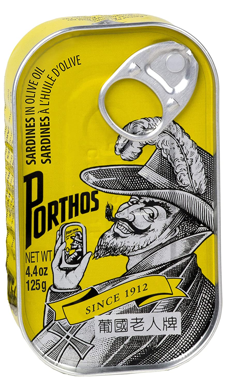 Porthos Sardines in Olive Oil | Seafood Aficionado Choice Selection | 4 Pack | Portuguese Sardines | 4.4 oz can