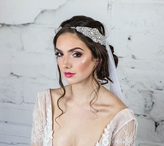Amazon.com  Crystal Bridal Headband a56889b111d