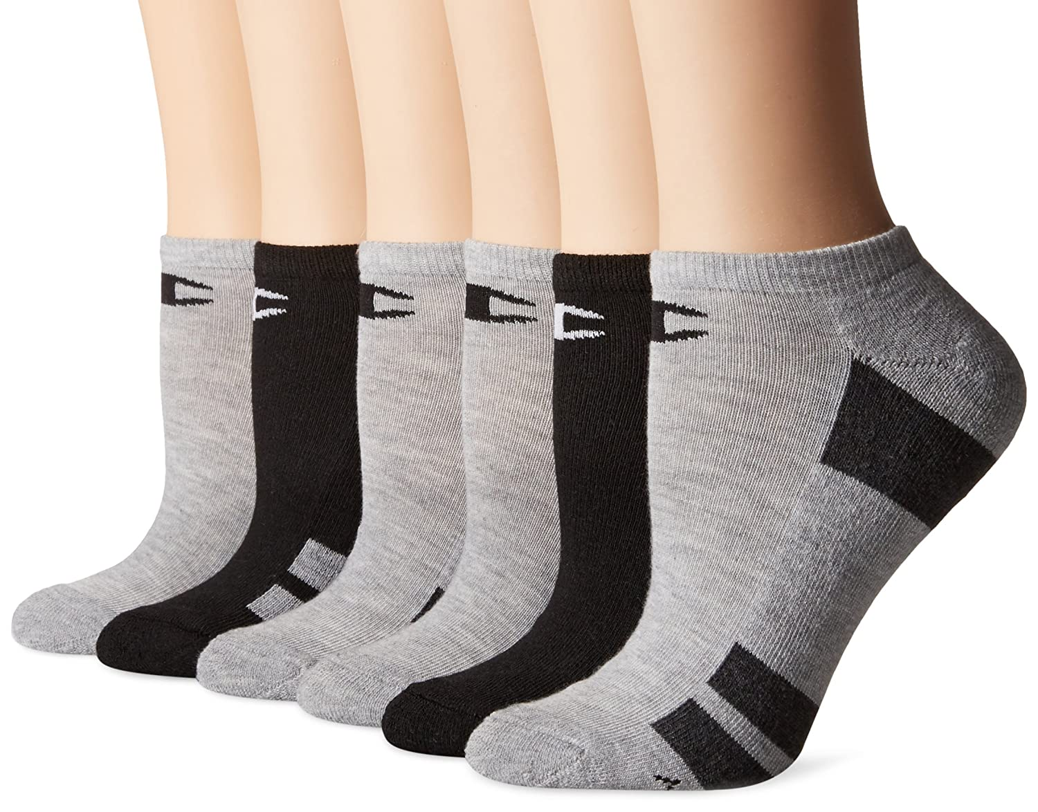 5329c638963 Champion Women s Double Dry 6-Pack Performance No Show Socks at Amazon  Women s Clothing store
