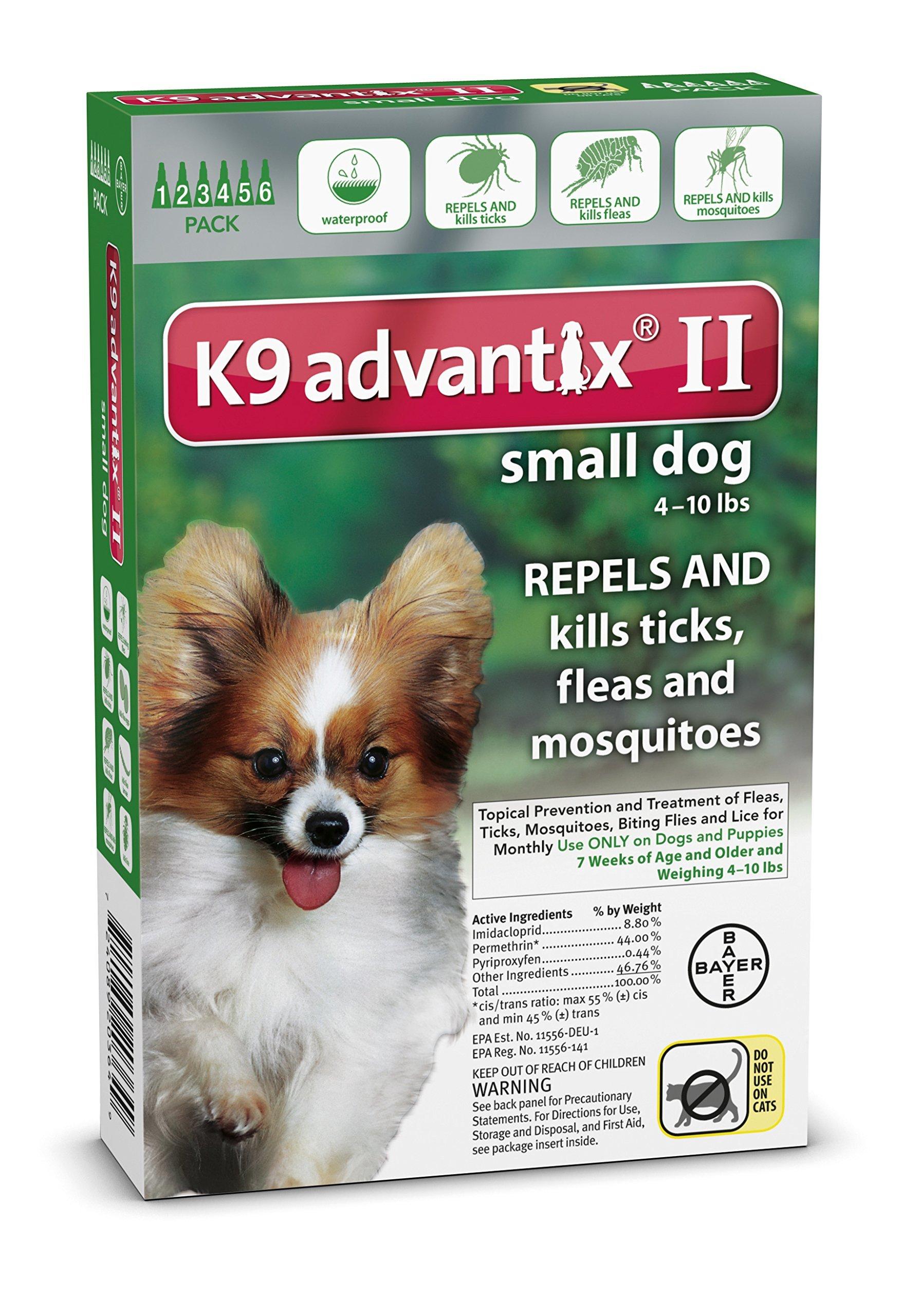 Bayer K9 Advantix Ii Flea Tick And Mosquito Prevention For Small