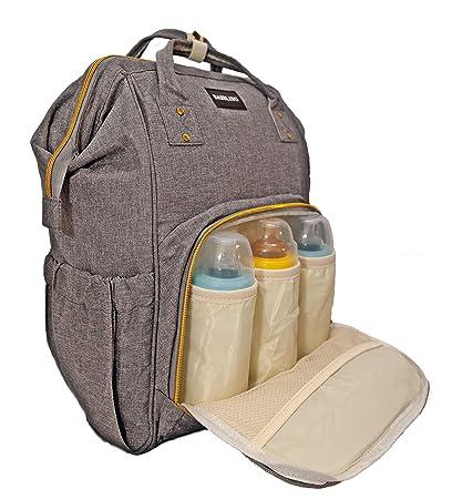 Zaino Mamma neonato Fasciatoio Bambino impermeabile, Borsa Nappy Stoffa Oxford Grande capacità 55L, 3 tasche isolanti bottiglia per Viaggiare mamma