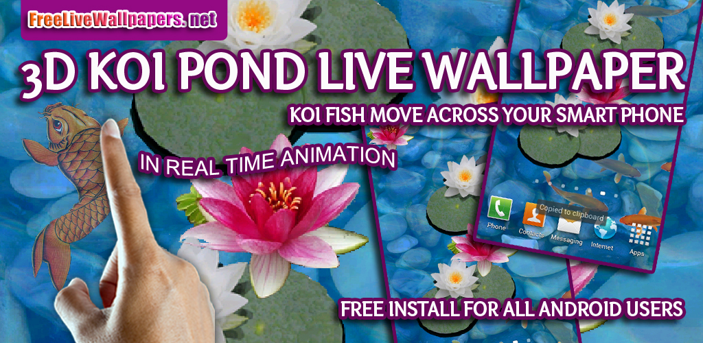 3d koi pond live wallpaper appstore for - 3d koi pond live wallpaper iphone ...