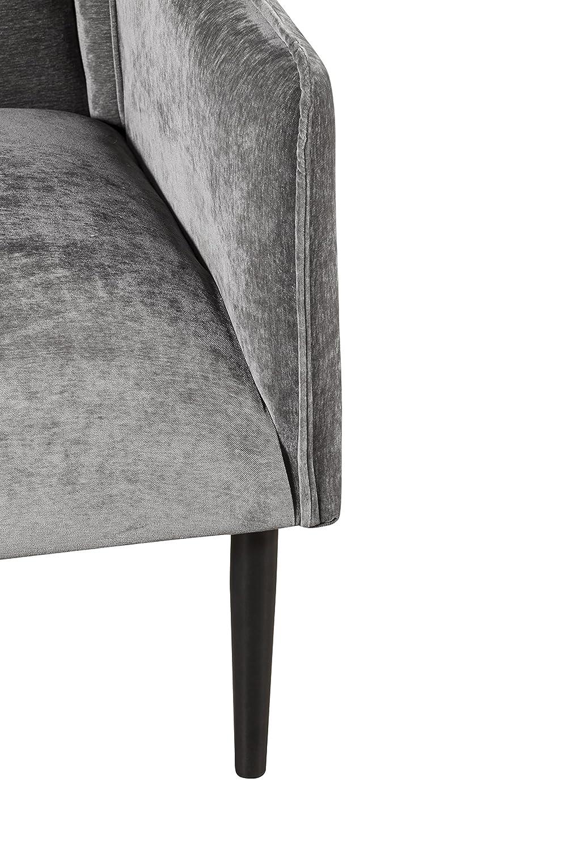 Elle Decor UPH10030A Baptiste Accent Chair Gray Crushed Velvet