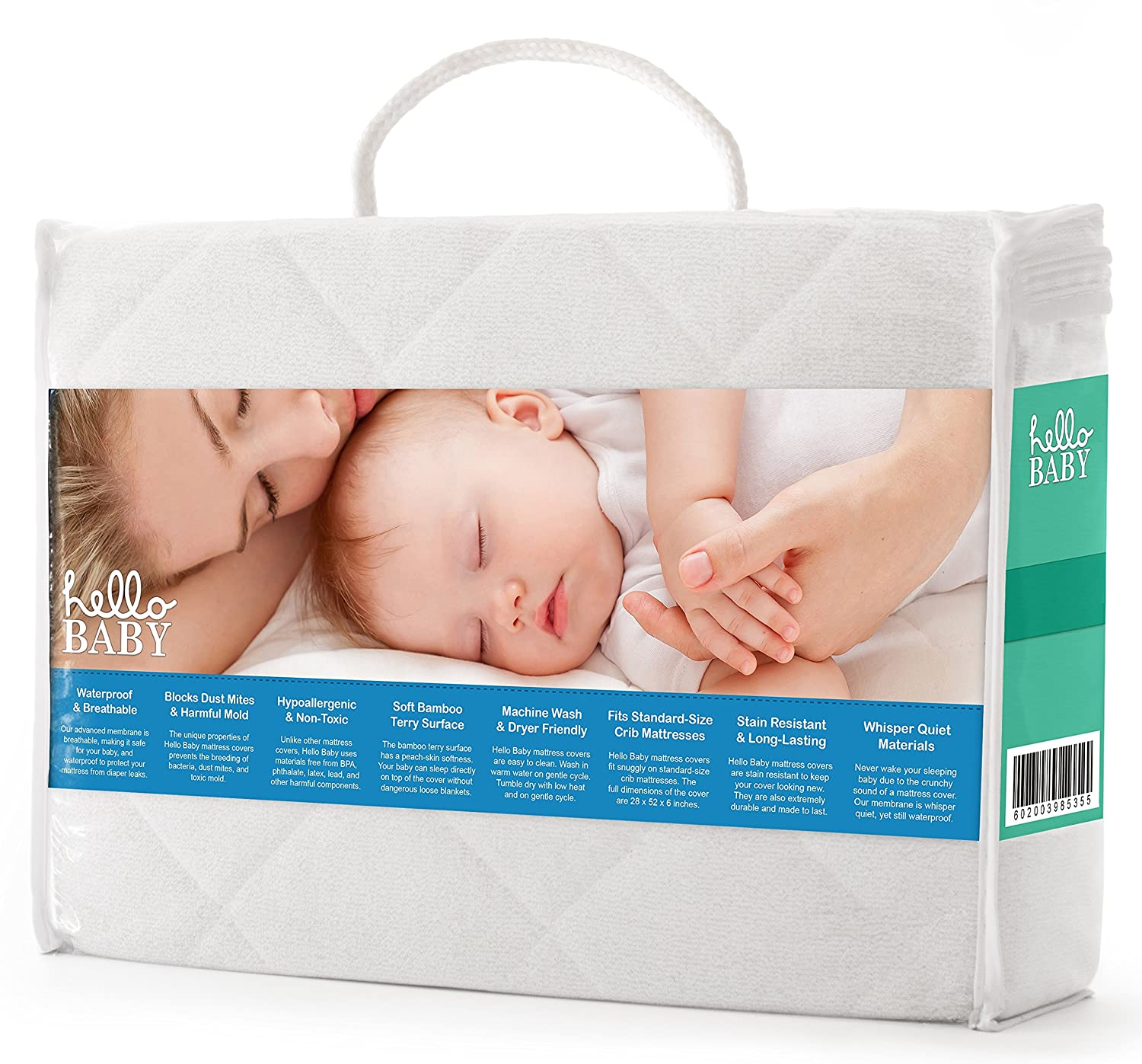 amazon com hello baby waterproof crib mattress cover quilted