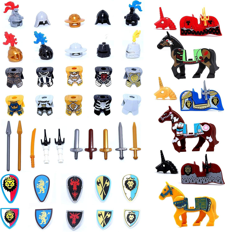 6 x Black Helmets Lego Weapons Castles Accessories BRAND NEW