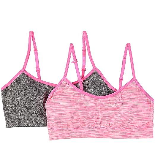 6240fab2b3614 Amazon.com  Rene Rofe Big Girls 2-Pack Training Bra with Removable ...