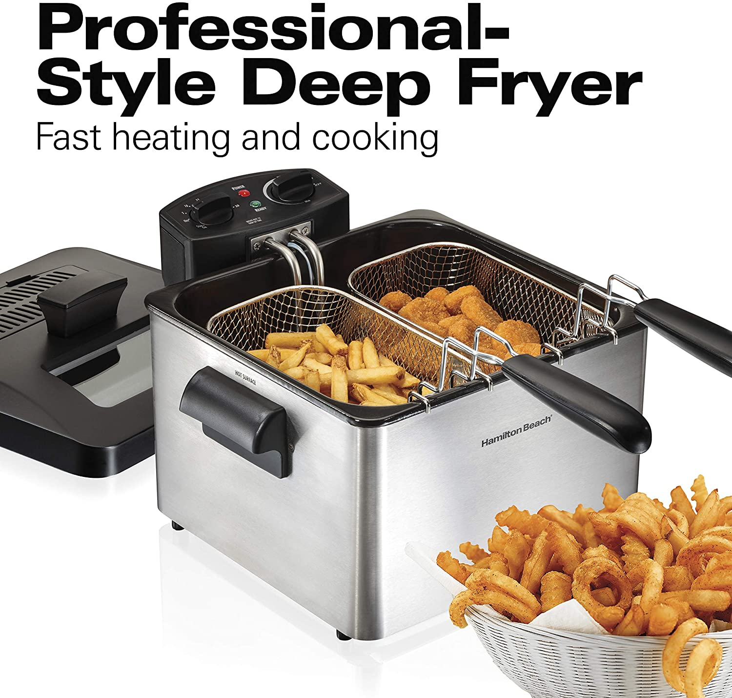 Deep Fryer with 2 Frying Baskets, 19 Cups / 4.5 Liters Oil Capacity