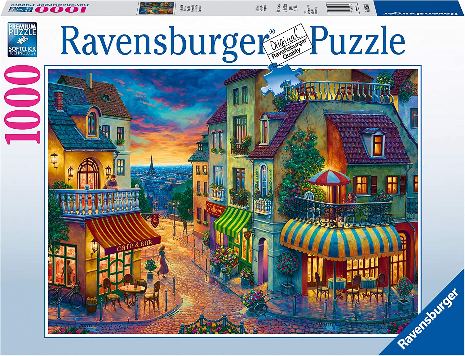 Ravensburger an Evening in Paris 15265 1000 Piece Puzzle for Adults, Every Piece is Unique, Softclick Technology Means Pieces Fit Together Perfectly