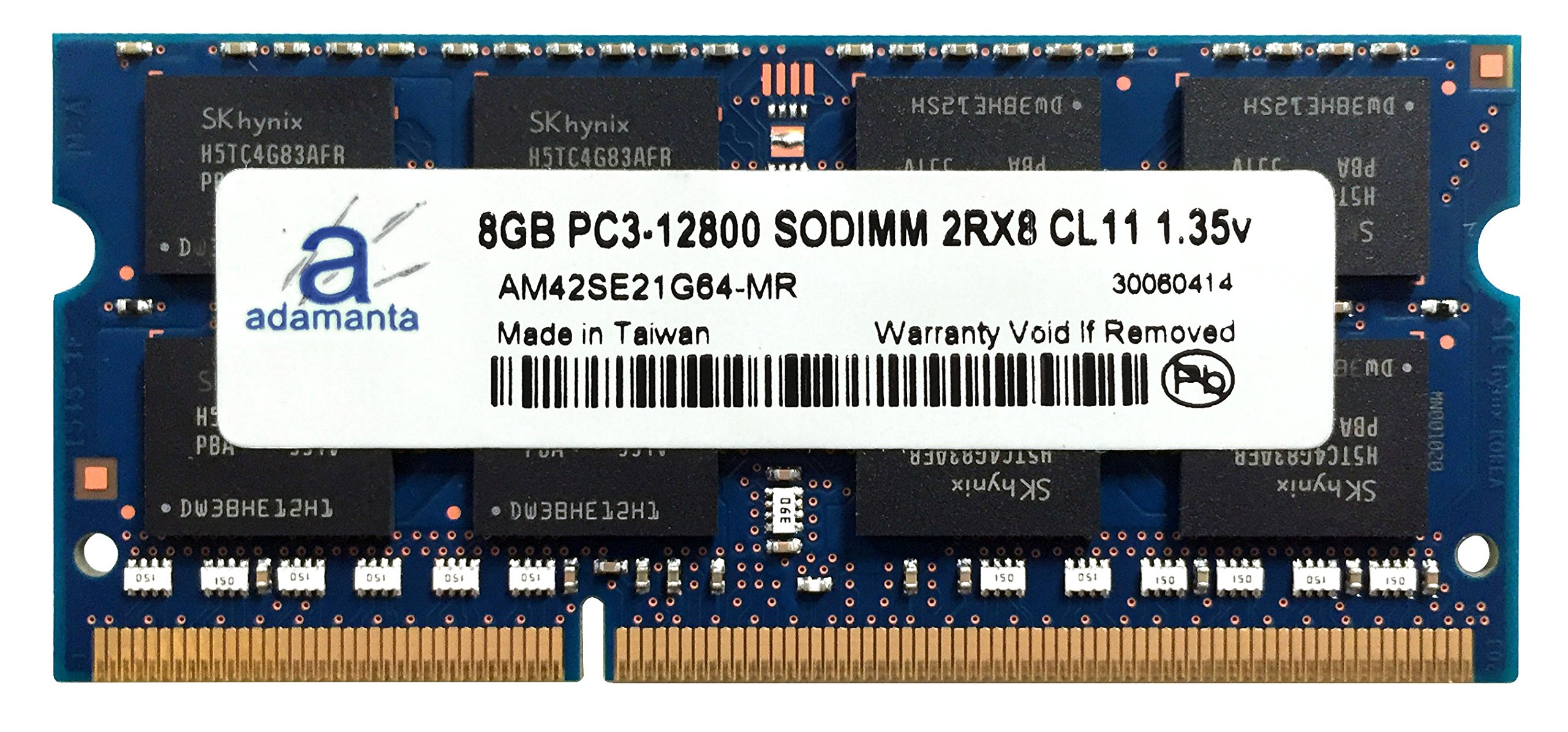 Adamanta 8GB (1x8GB) Laptop Memory Upgrade for Dell Inspiron 13 7000 Series 2-in-1 7347 DDR3L 1600Mhz PC3L-12800 SODIMM 2Rx8 CL11 1.35v Notebook DRAM
