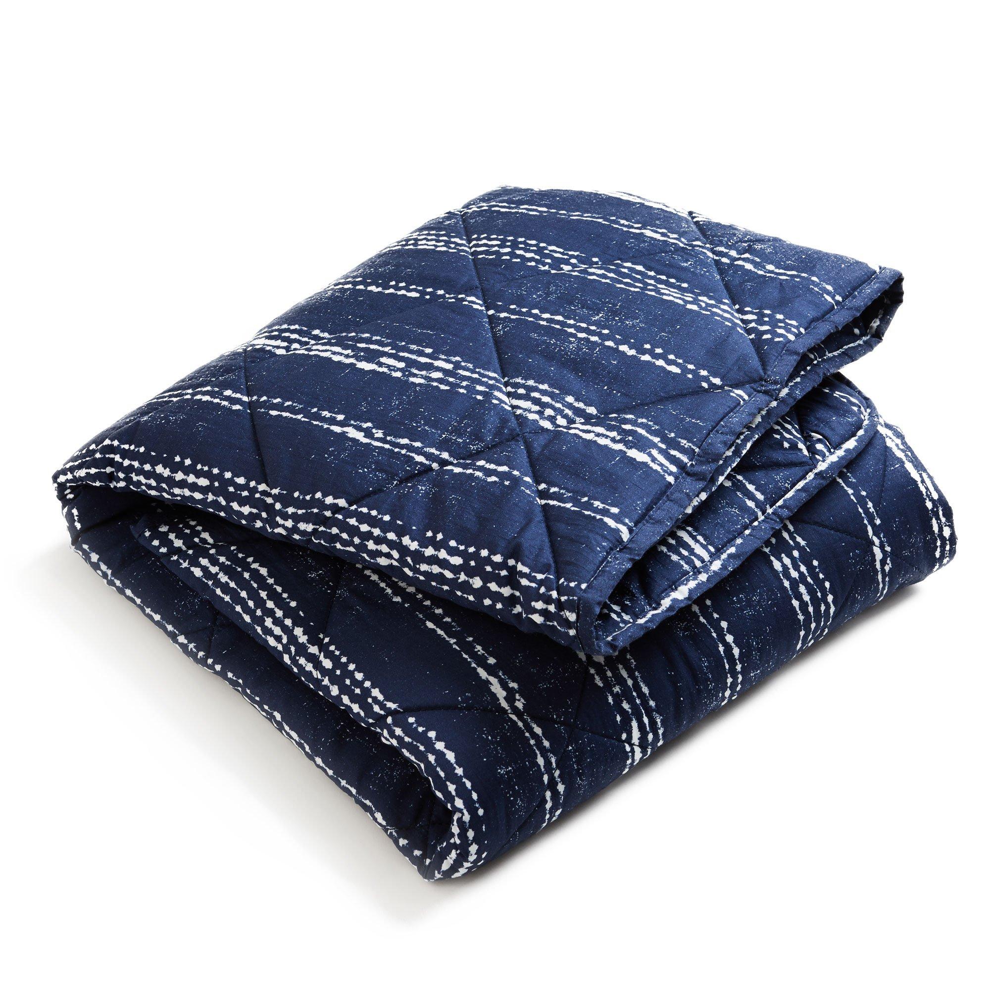 Brooklyn Born Organic Quilt - Shibori, Navy/White, One Size